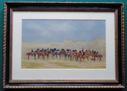 Tsar Alexander III Romanov & Officers on Horseback - 19th Century Russian School